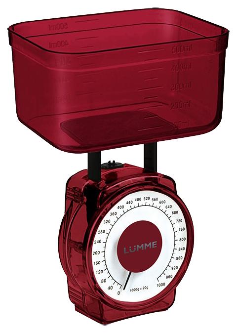 Весы кухонные LUMME LU 1301 Red
