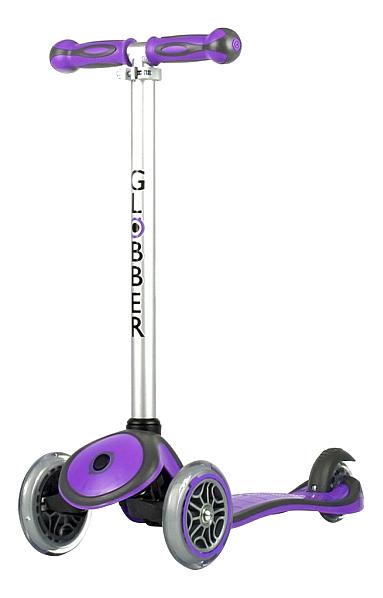 Купить Самокат трехколесный Y-SCOO RT Globber My Free New Technology 5946 purple, Самокаты детские трехколесные
