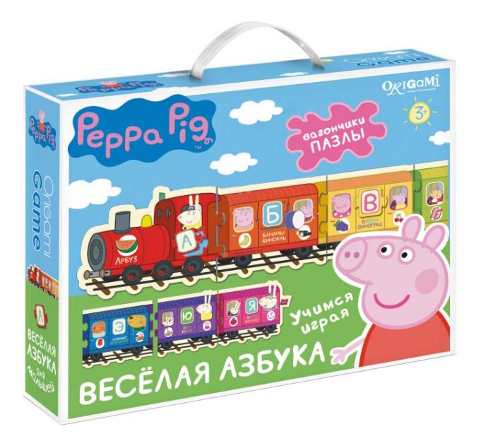 Купить Семейная настольная игра Оригами Peppa Pig.Паровозик, веселая азбука, Origami,