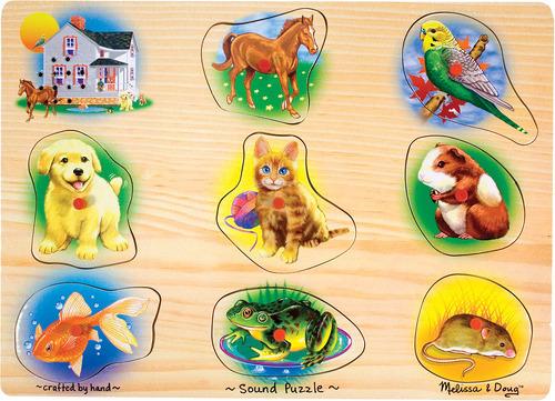 Купить Пазл со звуком MELISSA&DOUG Домашние животные (772103428), Melissa & Doug, Игровые наборы