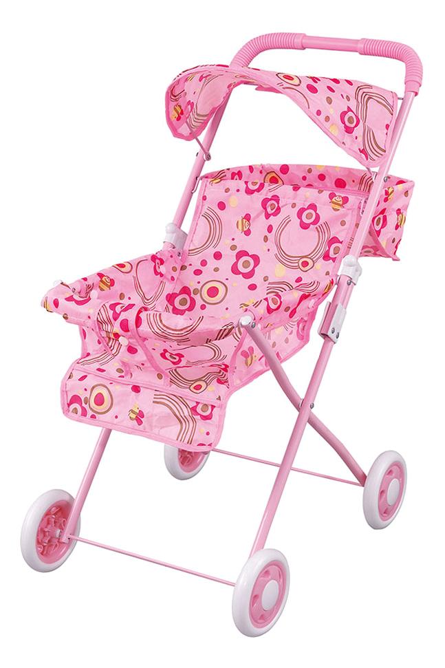 Коляска кукольная Fei Li Toys трость Розовая 42х34,5х63 см фото