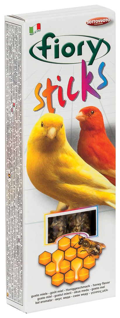 Лакомство для птиц FIORY STICKS, мед, 2шт,