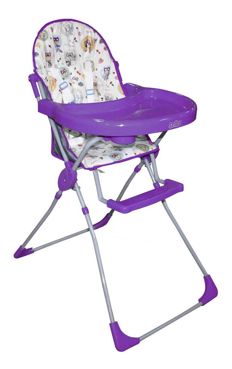 Стульчик для кормления тополь совы фиолетовый SELBY 152