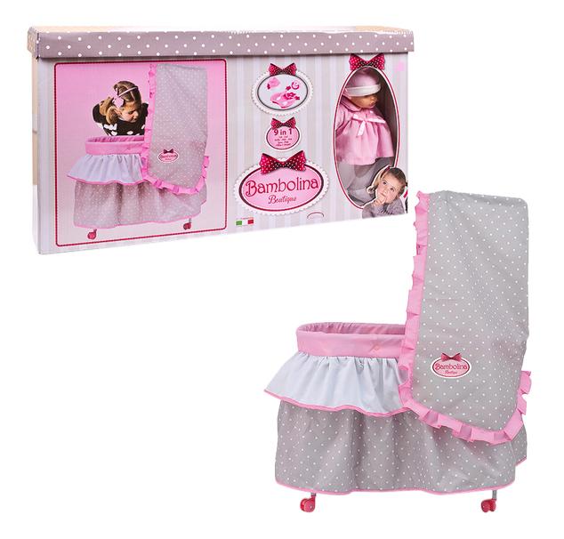 Кроватка для куклы Dimian Bambolina Boutique. Кровать с куклой фото