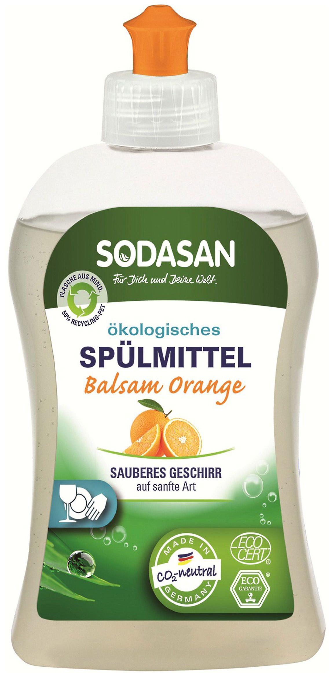 Средство для мытья посуды Sodasan апельсин