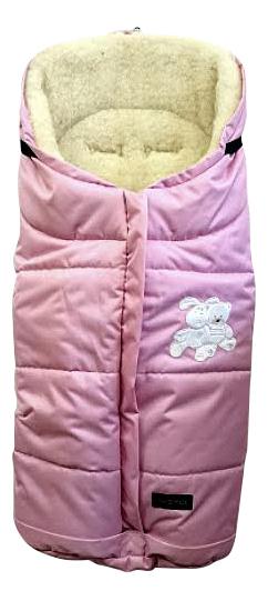 Конверт-мешок для детской коляски WOMAR Wintry розовый