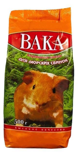 Корм для морских свинок Вака Кормовая смесь 0.5 кг 1 шт