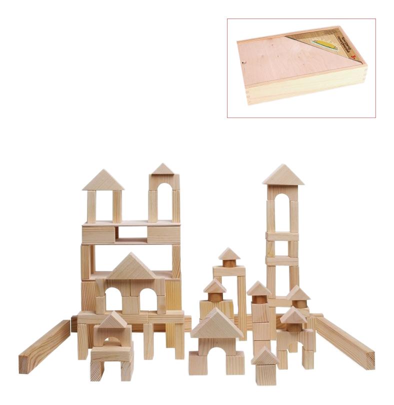 Купить Конструктор деревянный PAREMO 85 деталей неокрашенный, Деревянные конструкторы