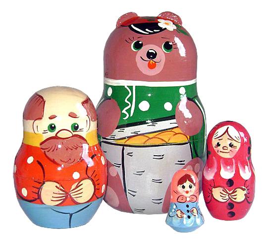 Развивающая игрушка Бэмби Маша и медведь