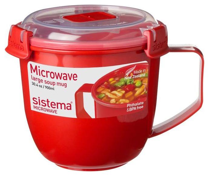Кружка суповая Sistema Microwave 1141 Красный