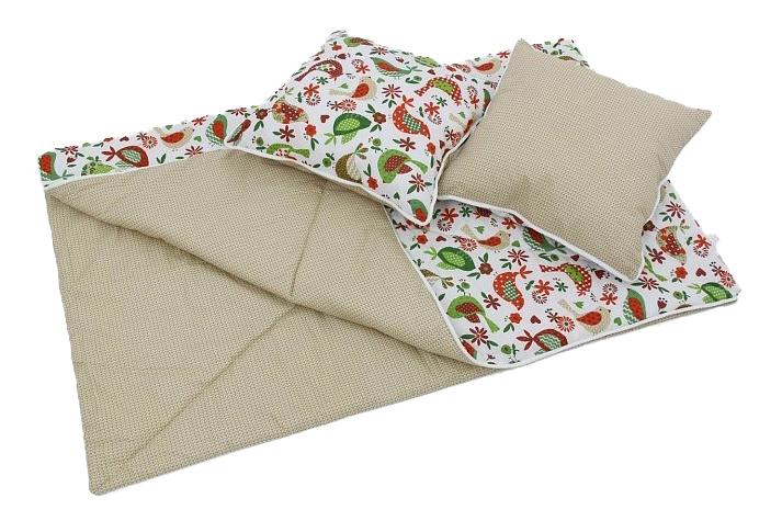 Одеяло и подушки для вигвама детского Polini Кантри, зеленый