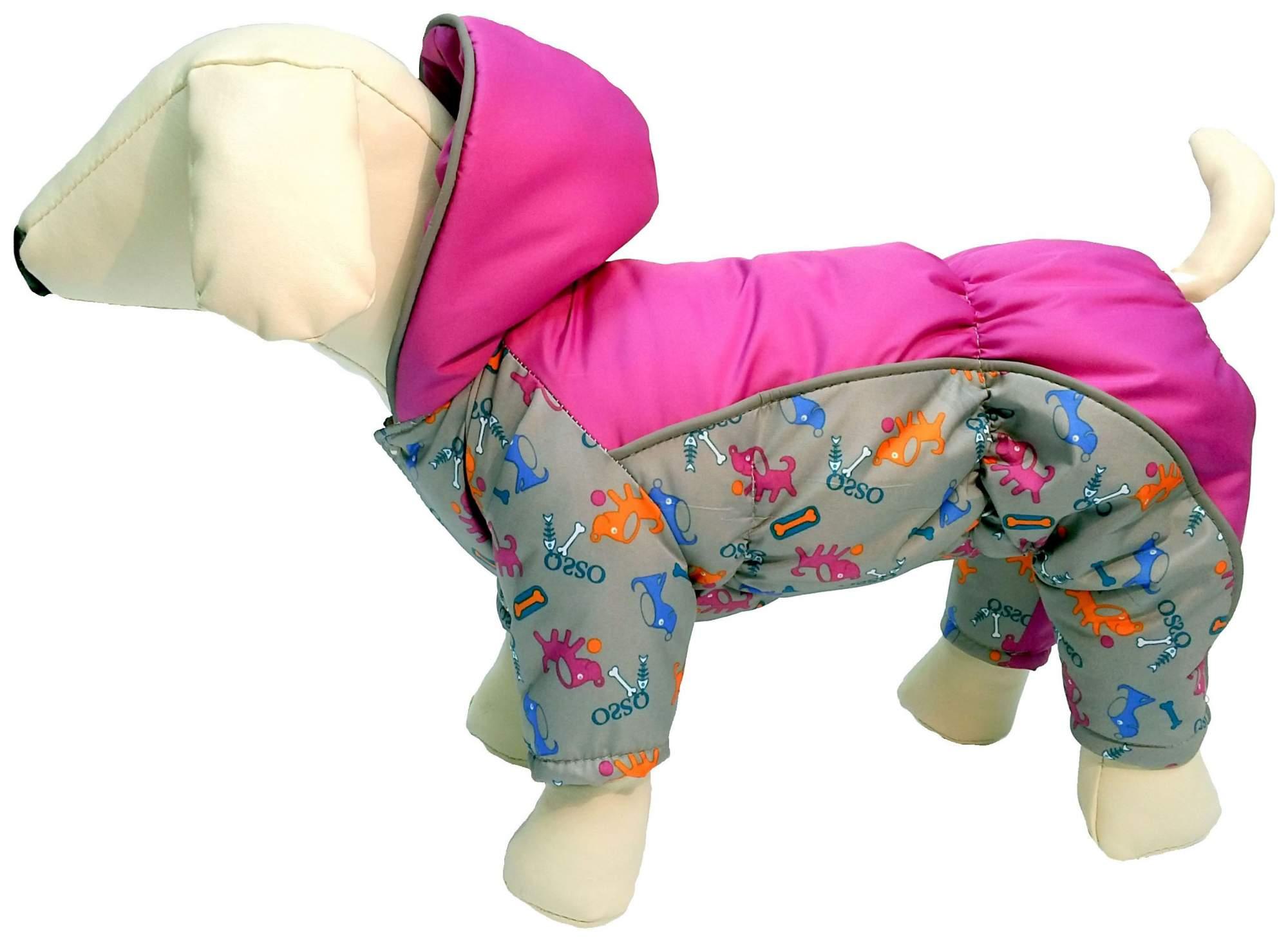 Комбинезон для собак OSSO Fashion, женский, в ассортименте, размер L, длина спины 35 см