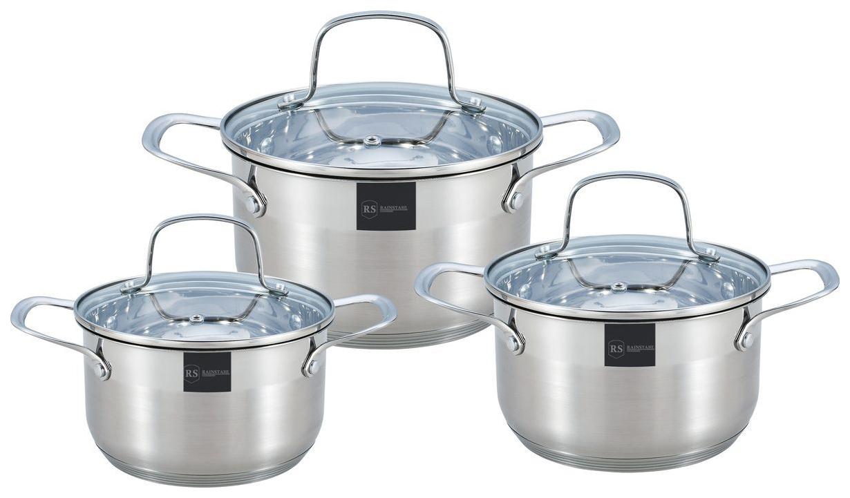 Набор посуды Rainstahl RS-1615-06 Серебристый