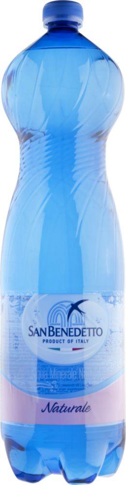 Вода минеральная San Benedetto naturale негазированная пластик 1.5 л