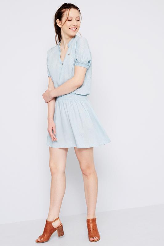 Платье женское U.S. POLO Assn. G082SZ0DEALFALATOYA DN0021 голубое 40 USA