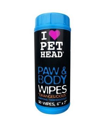 Влажные салфетки для животных Pet Head Цитрусовый бум, гипоаллергенные для лап, тела,50шт.
