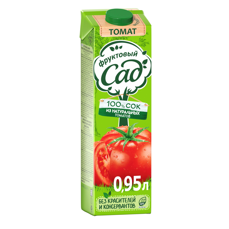 Сок Фруктовый Сад томат 0.95 л фото