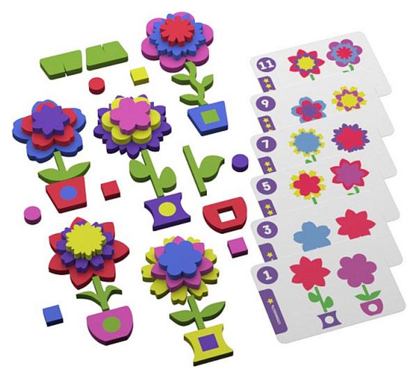 Развивающая игра с карточками Повторяй-ка Цветочки.