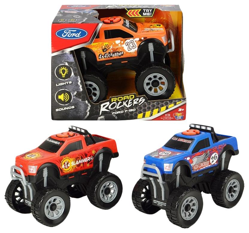 Купить Машина монстр-трак Road Rockers - Форд F-150 (свет, звук), 18 см Dickie Toys,
