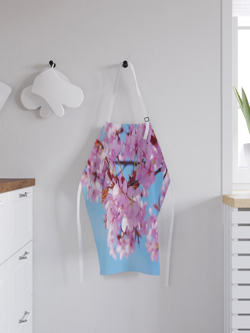 Фартук кухонный регулируемый «Розовая сакура», универсальный размер