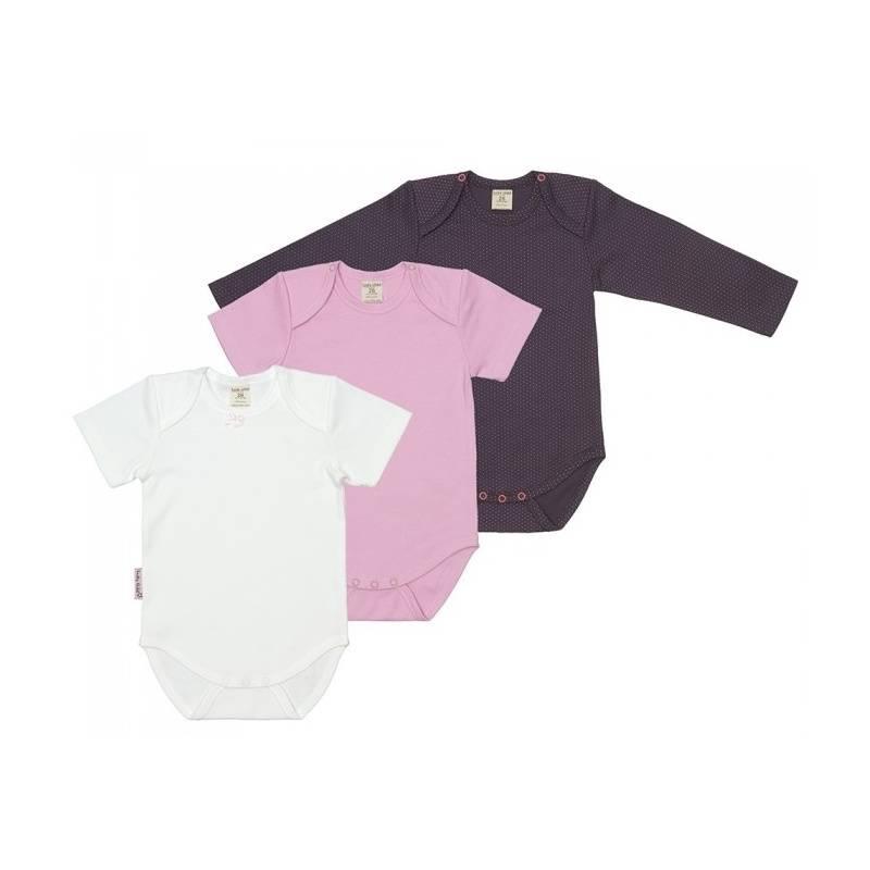 Купить Комплект боди 3 шт Lucky Child, цв. розовый, 68 р-р, Боди и песочники для малышей