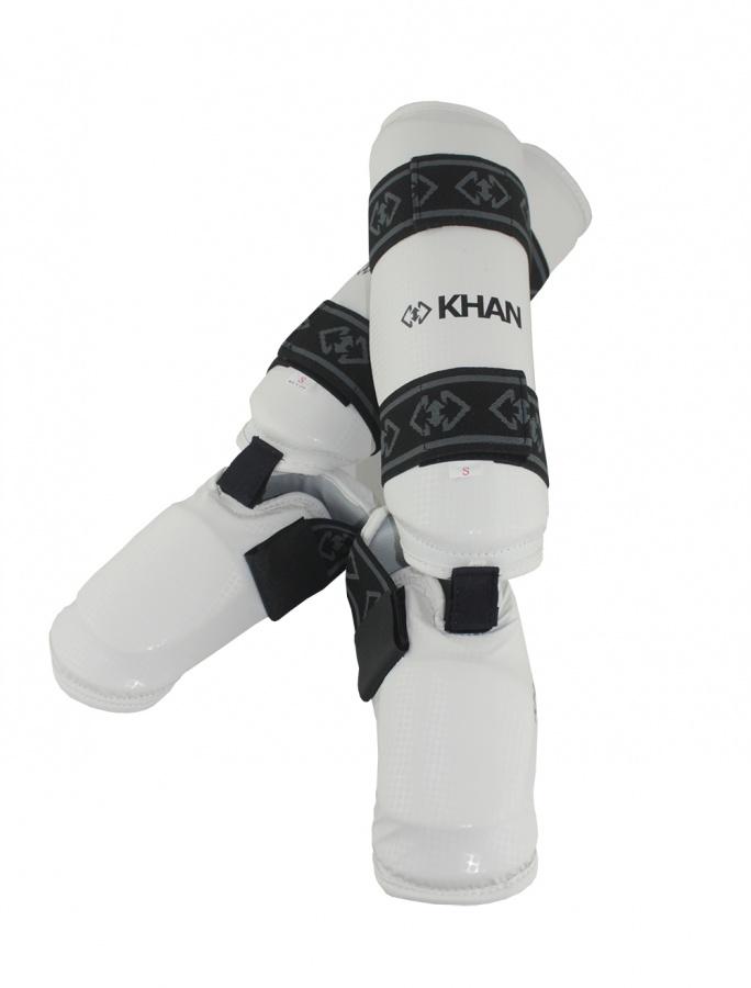 Защита голени и стопы Khan E15850 белая