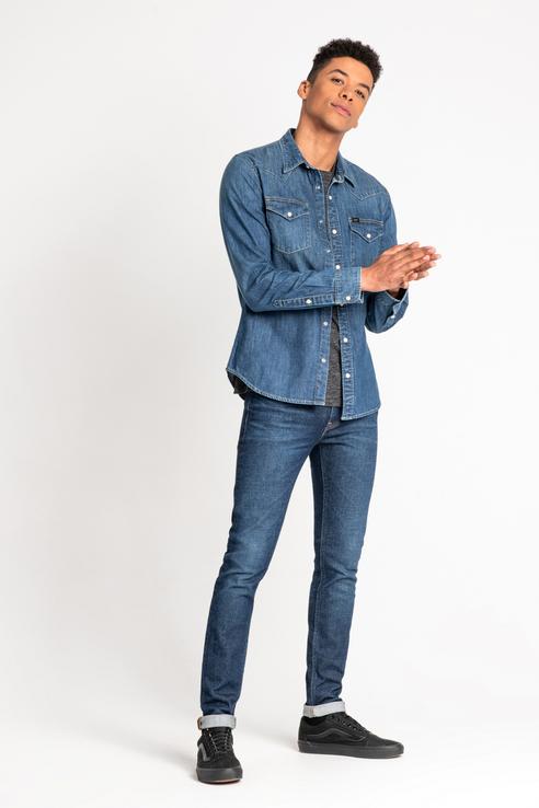 Рубашка мужская Lee® L643PLMO синяя M
