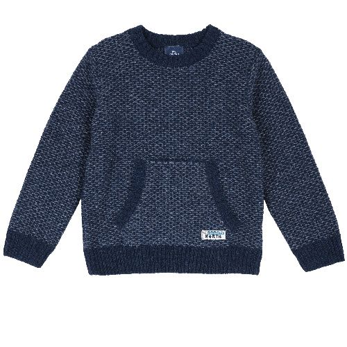Купить 9069387, Джемпер Chicco для мальчиков р.92 цв.синий, Кофточки, футболки для новорожденных