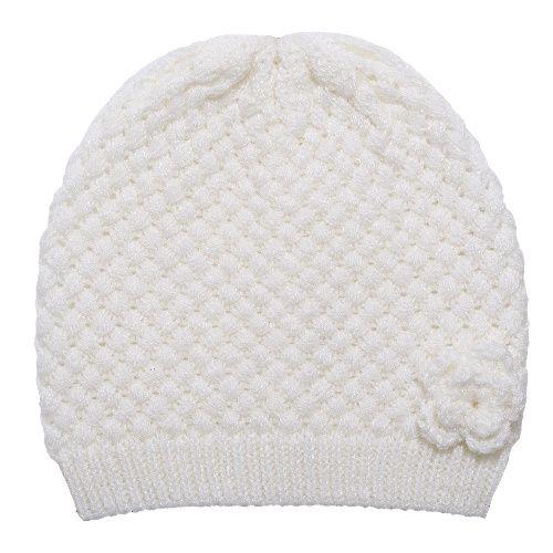 Купить Шапка Chicco Bonny для девочек р.6 цвет белый, Детские шапки