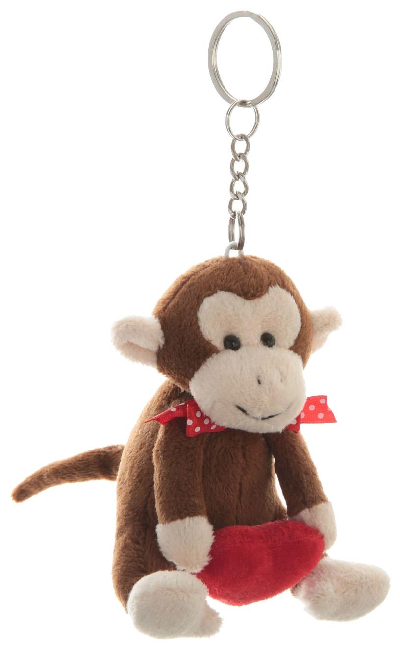 Купить Мягкий брелок Snowmen обезьянка с сердечком 10см брелок 6в.,