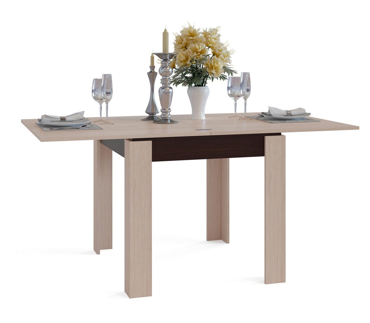 Кухонный стол Сокол СО-2 венге/белёный дуб, 160х90х76 см фото