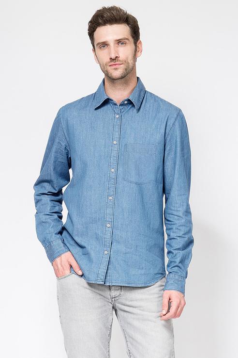 Рубашка мужская Tom Farr T M2421.35 синяя M