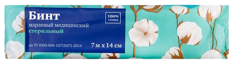 Купить Бинт марлевый PL медицинский стерильный 7 м х 14 см ТУ 1 шт.