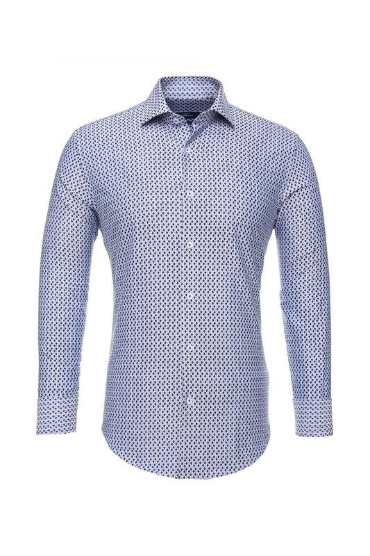Рубашка мужская BAWER RZ2412070-05 синяя S