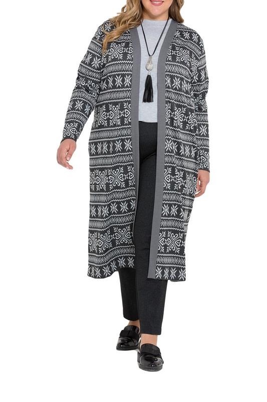 Кардиган женский Интикома 217028 серый 58 RU