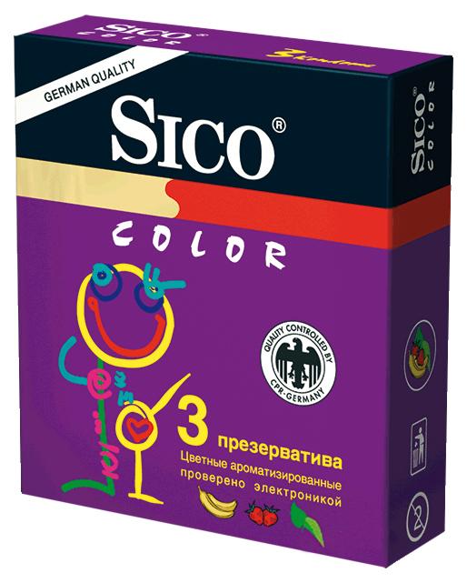 Купить Презервативы Sico Color 3 шт.