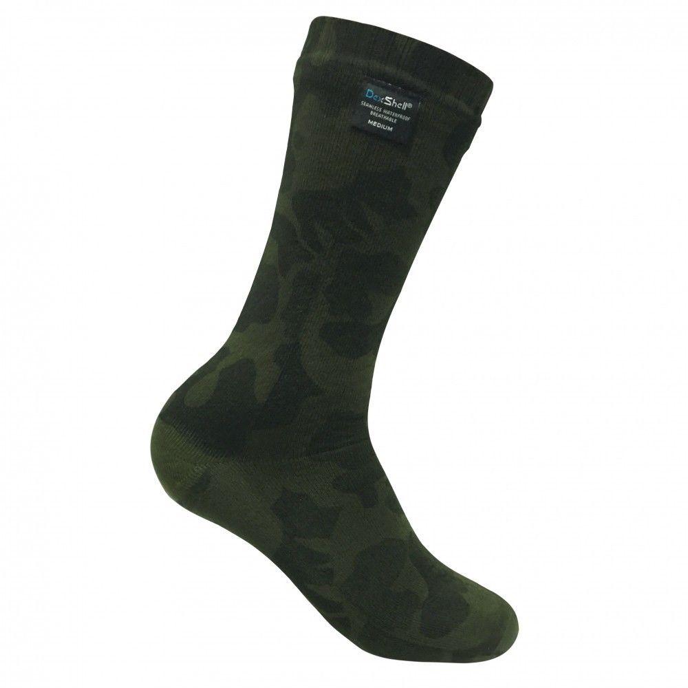 Носки DexShell Waterproof Camouflage 2017 зеленые/серые, размер