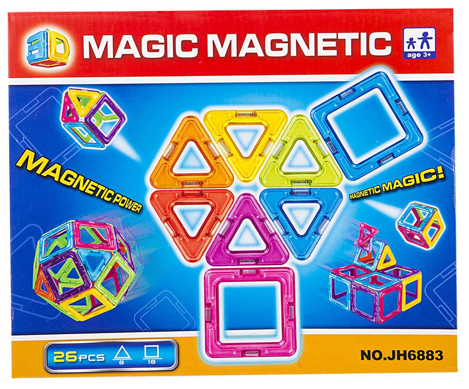 Купить Конструктор магнитный ИГРУША в наборе 26 деталей i-JH6883, Игруша,