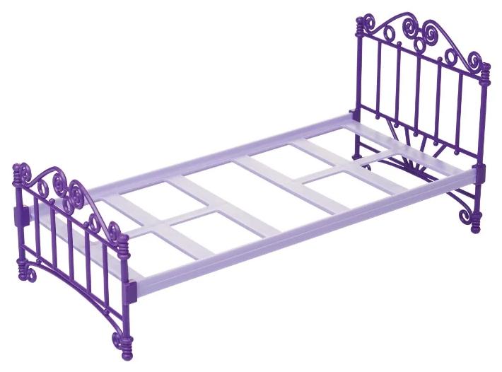 Кроватка для кукол Огонек фиолетовая без постельных принадлежностей