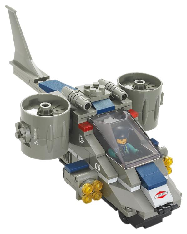Купить Конструктор пластиковый Sluban Военный спецназ Штурмовой самолет 155 деталей M38-B0196, Конструкторы пластмассовые