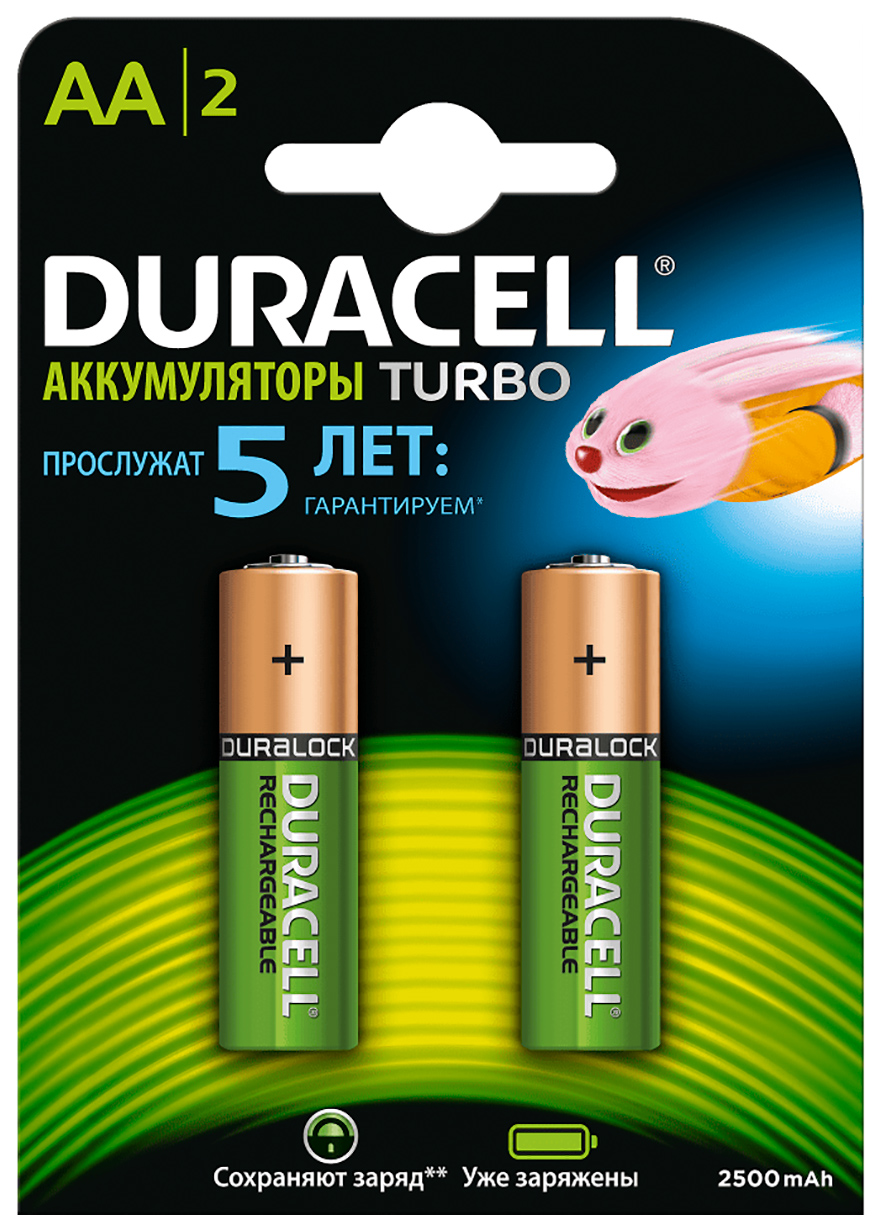 Аккумуляторная батарея Duracell HR6 2BL 2 шт