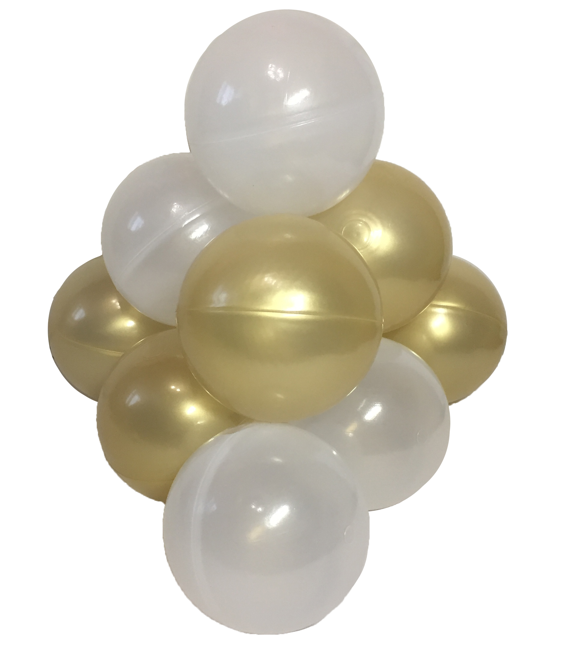 Комплект шариков Пена с золотом (50шт: золот