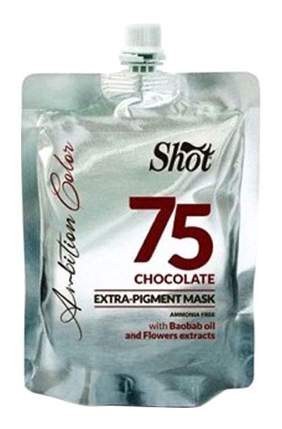 Маска для волос Shot Extra Pigment 75 Chocolate 200 мл