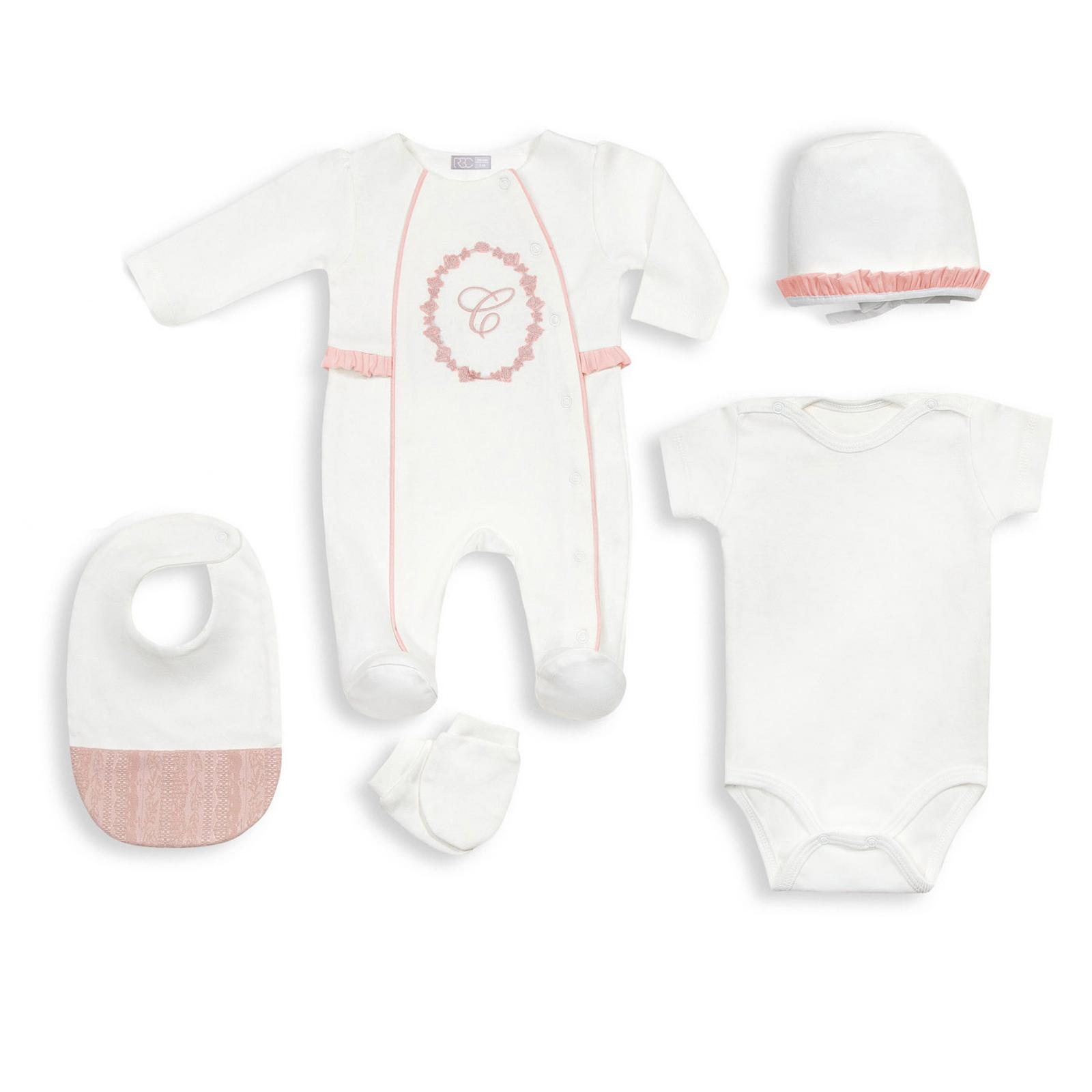 Комплект одежды для новорожденного RBC МЛ 426309 бело-розовый р.onesize