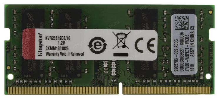 Модули памяти KINGSTON KVR26S19D8/16