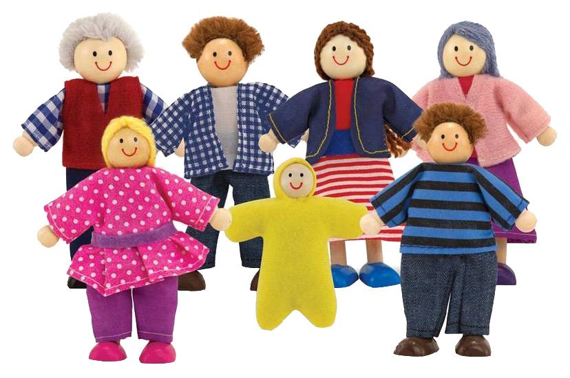 Купить Melissa & Doug Кукольная семья, арт. 2464M, Игровые наборы