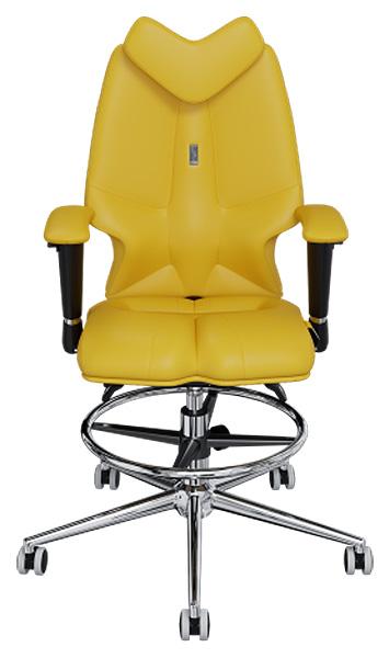 Детское кресло Kulik System Fly, экокожа, Желтый