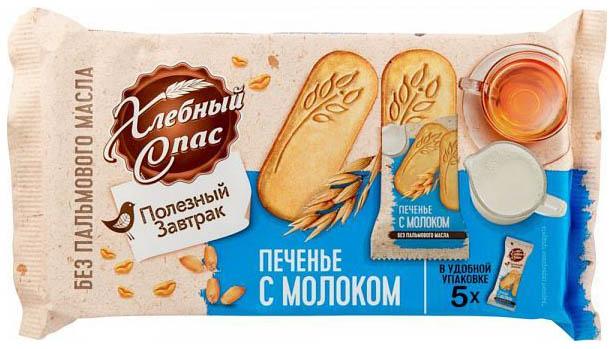 Печенье с молоком Хлебный Спас полезный завтрак 160 г