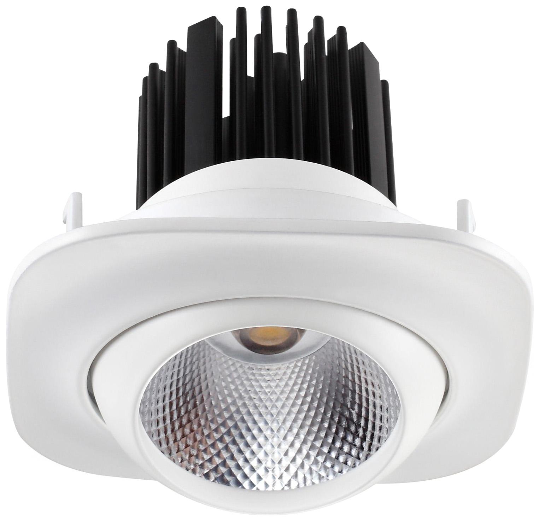 Встраиваемый светодиодный светильник Novotech Drum 357697 Белый 110 мм