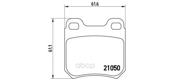 Тормозные колодки дисковые brembo P59014